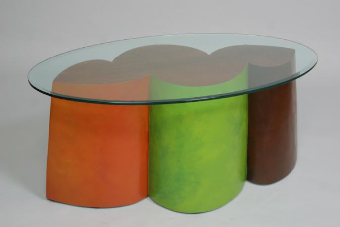 Coffee Table, glass coffee table, table, colorful