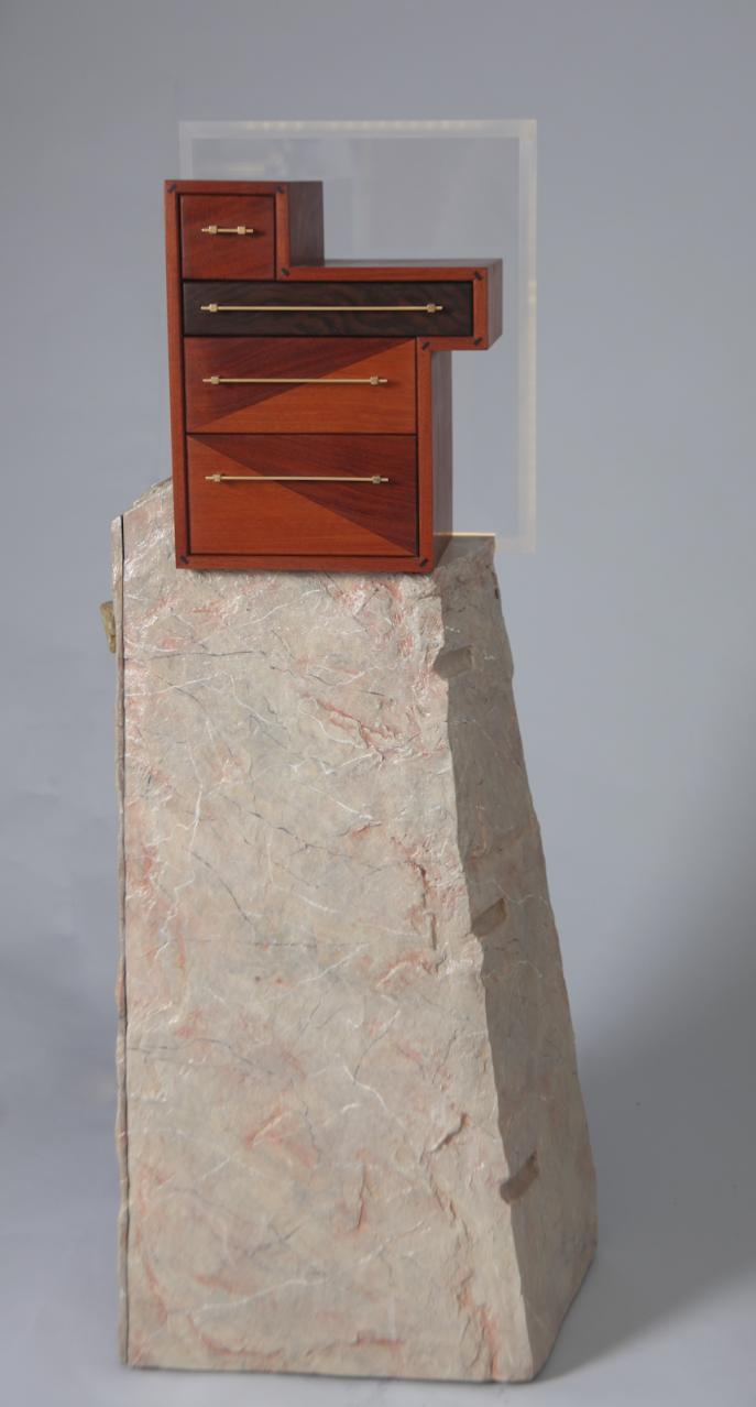 Yellow Satinwood, fiberglass, Mahogany, Colorcore, Brass, Copper, lacquer