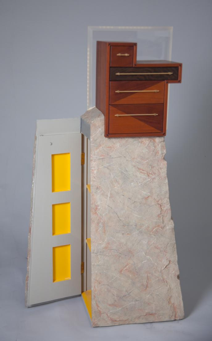 cabinet, furniture, custom furniture, Mahogany, LED lighting, faux marble, faux painting