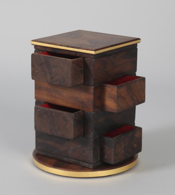 custom furniture, handmade, jewelry box, unique, art, walnut
