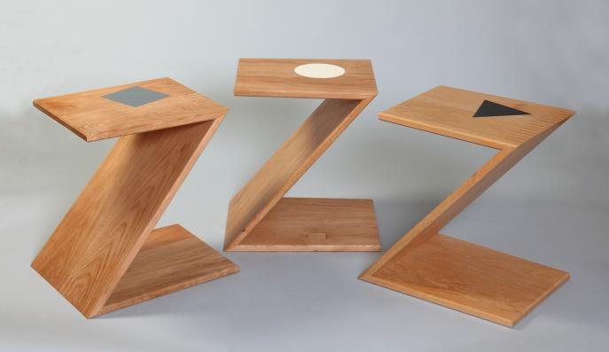 custom furniture, Reitveld, Z chair, modern furniture, wood, Oak, nesting tables