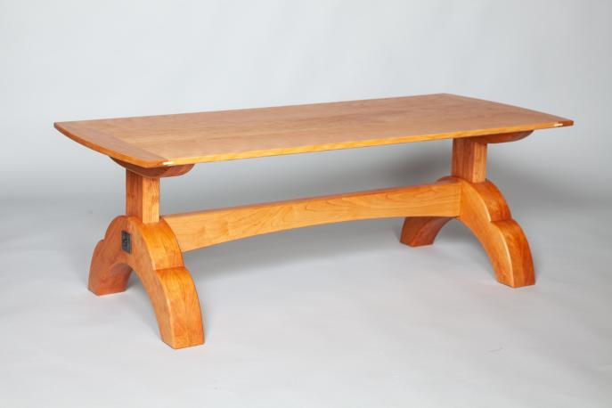 Coffee table, Cherry, Wood, Custom furniture, Commission